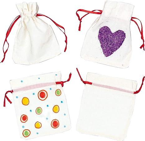 Baker Ross Mini Bolsos de Tela (paquete de 6) pequeños bolsos de ...