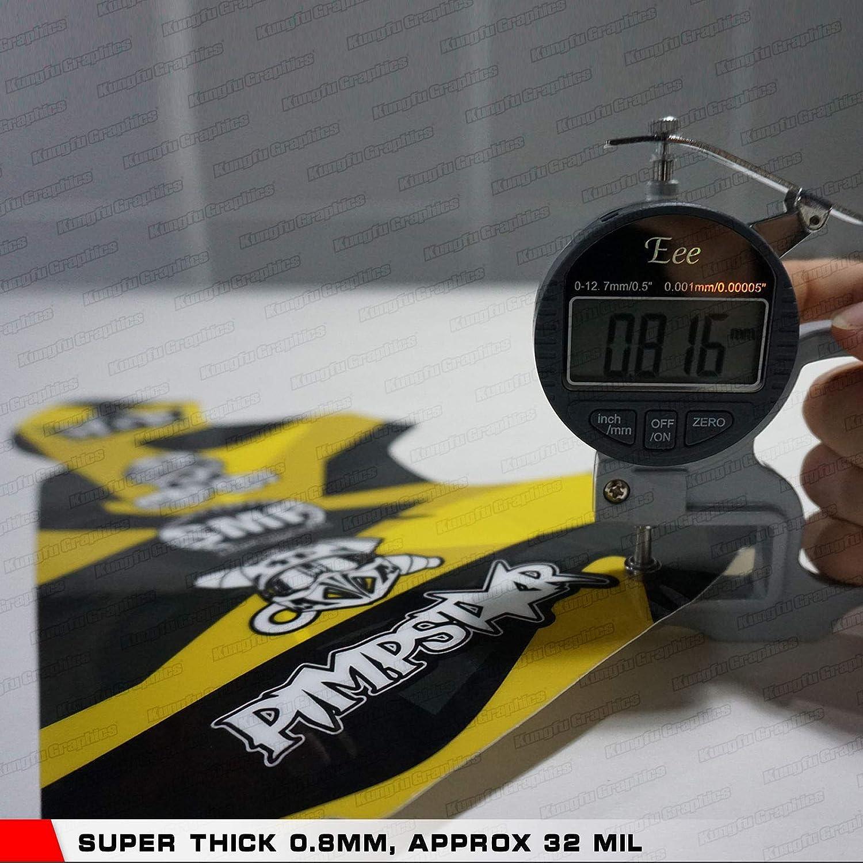 Kungfu Graphics Custom Decal Kit for Suzuki RM125 1999 2000 Black White Yellow