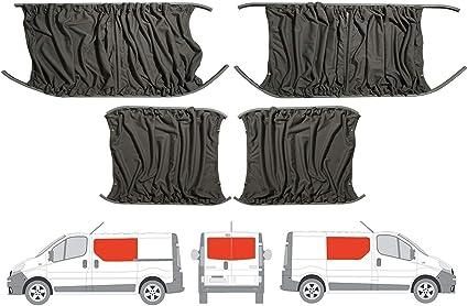Gris Camper Van cortinas Kit para la mano izquierda, mano derecha panel lateral de la puerta deslizante puertas traseras y: Amazon.es: Coche y moto