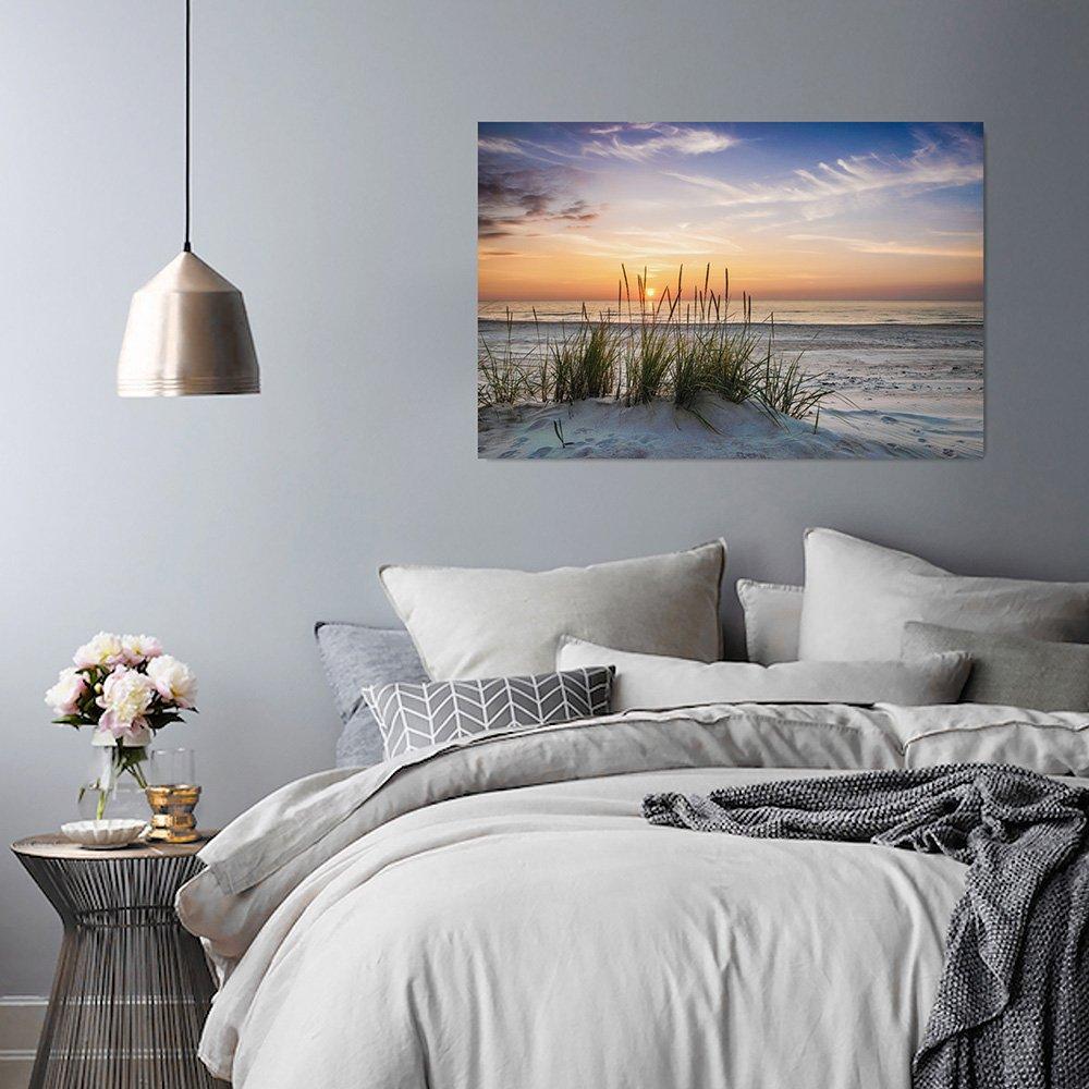 SPIAGGIA MARE Feeby Frames PAESAGGIO ERBA Canvas 30x40 cm SABBIA Pannello singolo ACQUA Quadro su tela Stampa artistica Quadro pannelli CIELO