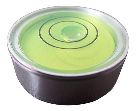 Nivel De Burbuja De Metal Pequeño Redondo Ojo De Buey (Líquido Verde) – Nivel De Superficie Reloj Hobby Giradiscos Cámara Caravana: Amazon.es: Industria, empresas y ciencia