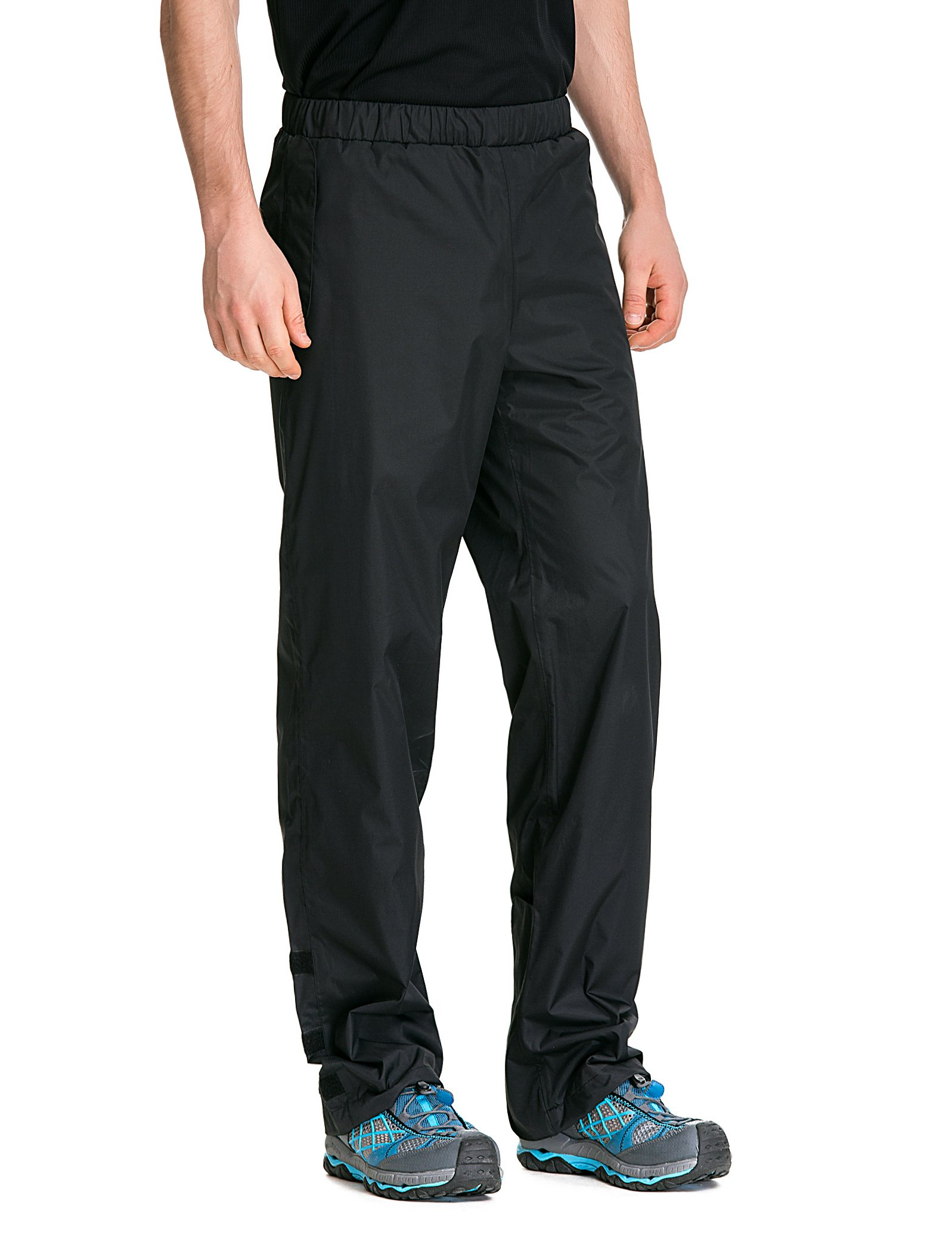 Trailside Supply Co. Men's Waterproof Windproof Elastic-Waist Rain Pants (Black,X-Large) by Trailside Supply Co. (Image #1)