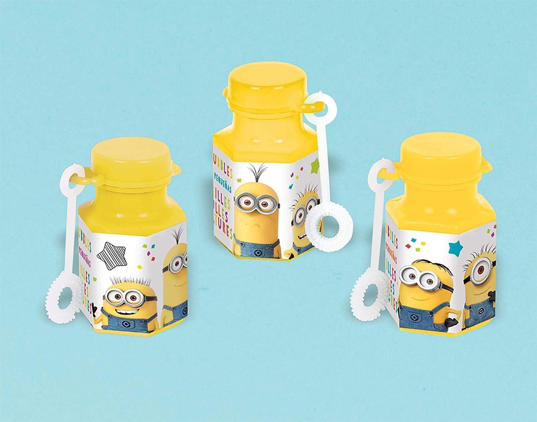 Despicable Me Yellow Party Favor Mini Bubbles 12 Ct.