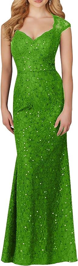 Charmant damska sukienka w kolorze szampana, koronkowa, z cekinami, z krÓtkim rękawem, sukienka wieczorowa, balowa, na imprezę, długa: Odzież