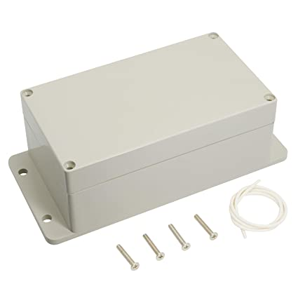 LeMotech Waterproof Dustproof IP65 ABS Plastic Junction Box Universal  Electric Project Enclosure Pale Gray and Fixed Ear