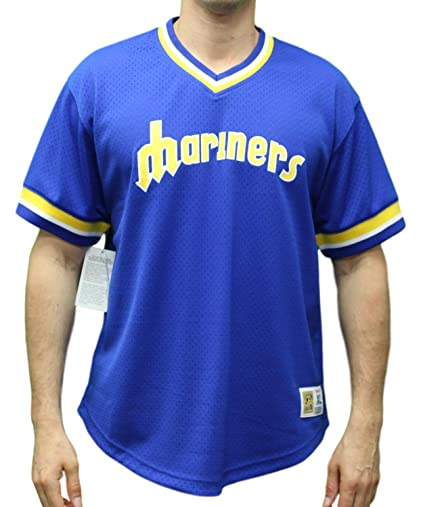 new products 826c3 4b9fb Amazon.com : Mitchell & Ness Seattle Mariners MLB Men's Game ...