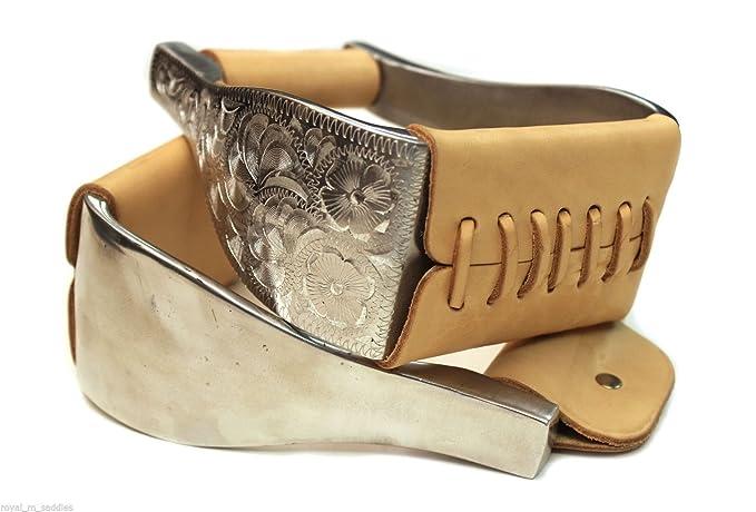 """mroyalsaddles.com Western Saddle Stirrups Engraved Aluminum 3"""" Bell Roping Stirrups"""