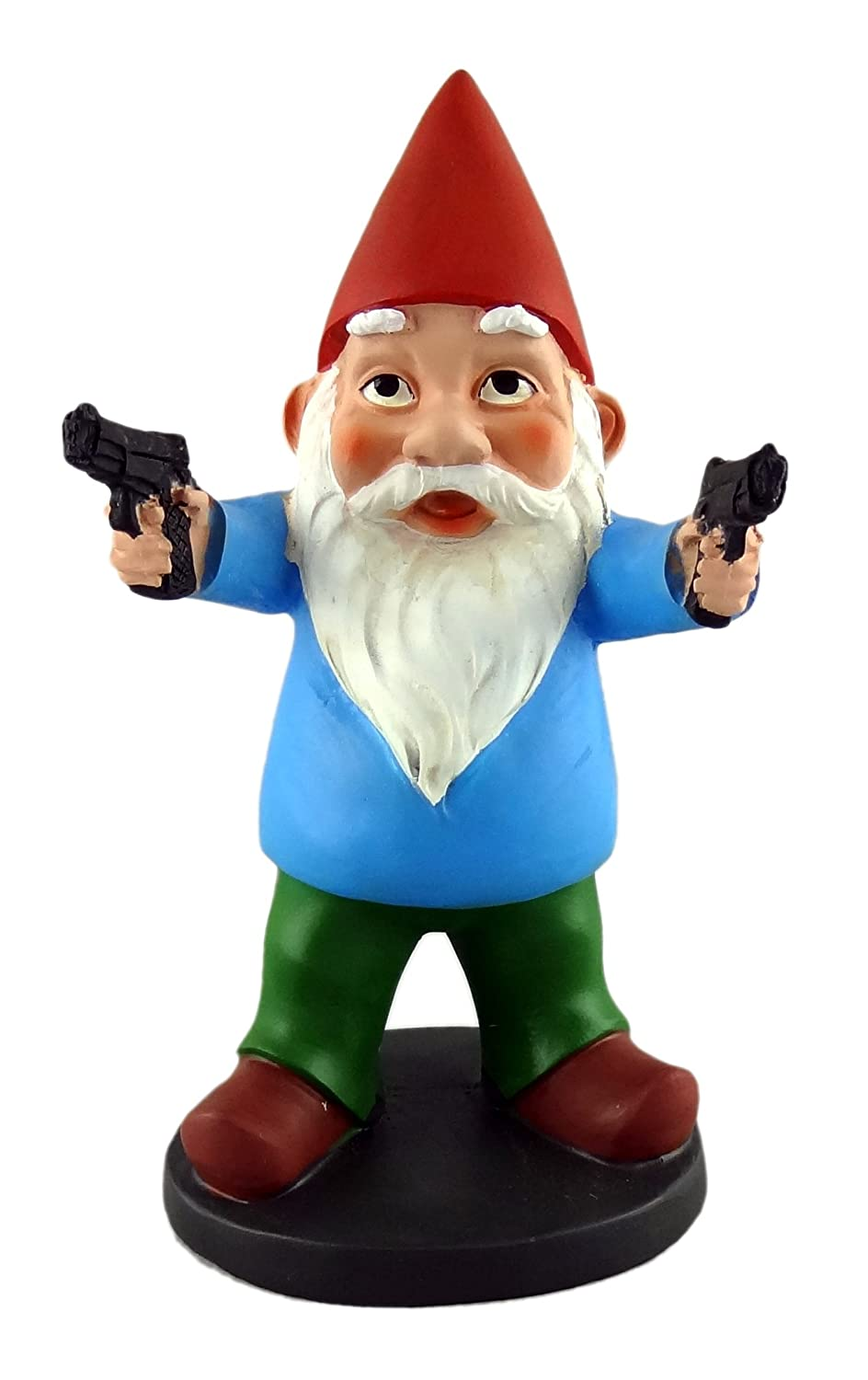 Funny Guy Mugs Garden Gnome Statue - Combat Gnome - Indoor/Outdoor Garden Gnome Sculpture for Patio, Yard or Lawn