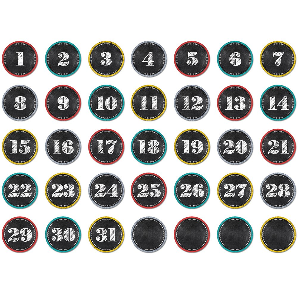 Creative Teaching Press Chalk It Up! Calendar Days (6896)