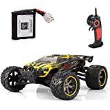 GPTOYS RC Cars S912 33MPH Remote Control Truck 1/12 Scale 2.4GHz 2WD Off-road Waterproof Monster Car-Best Gift for Kids and Adults - Yellow (3rd Version)