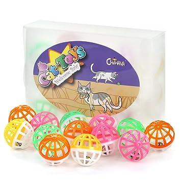 Chiwava Pelota de gato con campana de plástico para jugar al carrito o a los juguetes, 15 unidades, varios colores: Amazon.es: Productos para mascotas