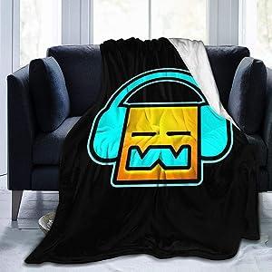 "NOT Geometry Dash Digital Printed Ultra-Soft Micro Fleece Blanket Soft Warm 80""x60"""