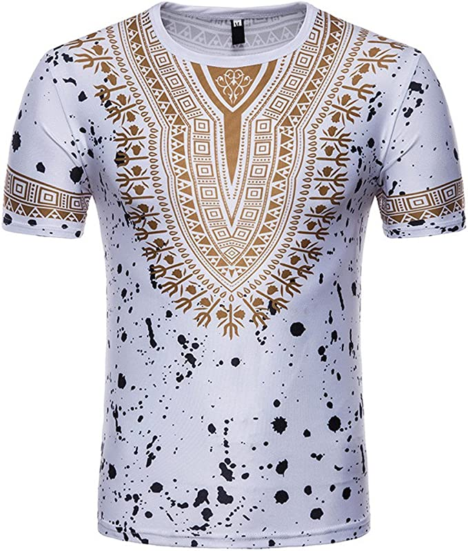 Camiseta para Hombre,Verano Manga Corta Impresi/ón Moda Diario Casual T-Shirt Camiseta Jaspeada de Cuello Redondo Suave b/ásica Camiseta Tops vpass