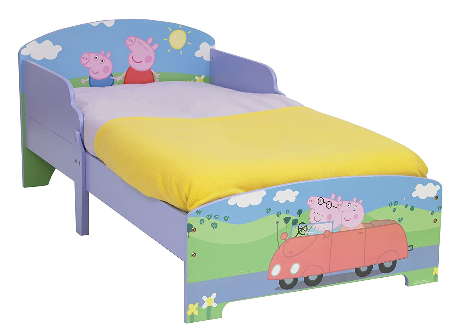 Peppa Pig Bedroom Furniture Peppa Pig Toddler Bed By Hellohome Amazoncouk Kitchen Home