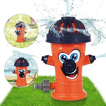 Sunshine smile Juguete de Rociadores,Juguete de Agua de Rociadores,Juegos de Agua para niños Jardin,Jardín de Verano Juguetes para niños Juguetes para rociar Agua (Naranja): Amazon.es: Juguetes y juegos