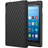 NEW-Fire HD 8 ケース - ATiC Fire HD 8 タブレット (第7世代、第8世代) 用カバー 軽量 ソフト シリコーン製保護ケース BLACK