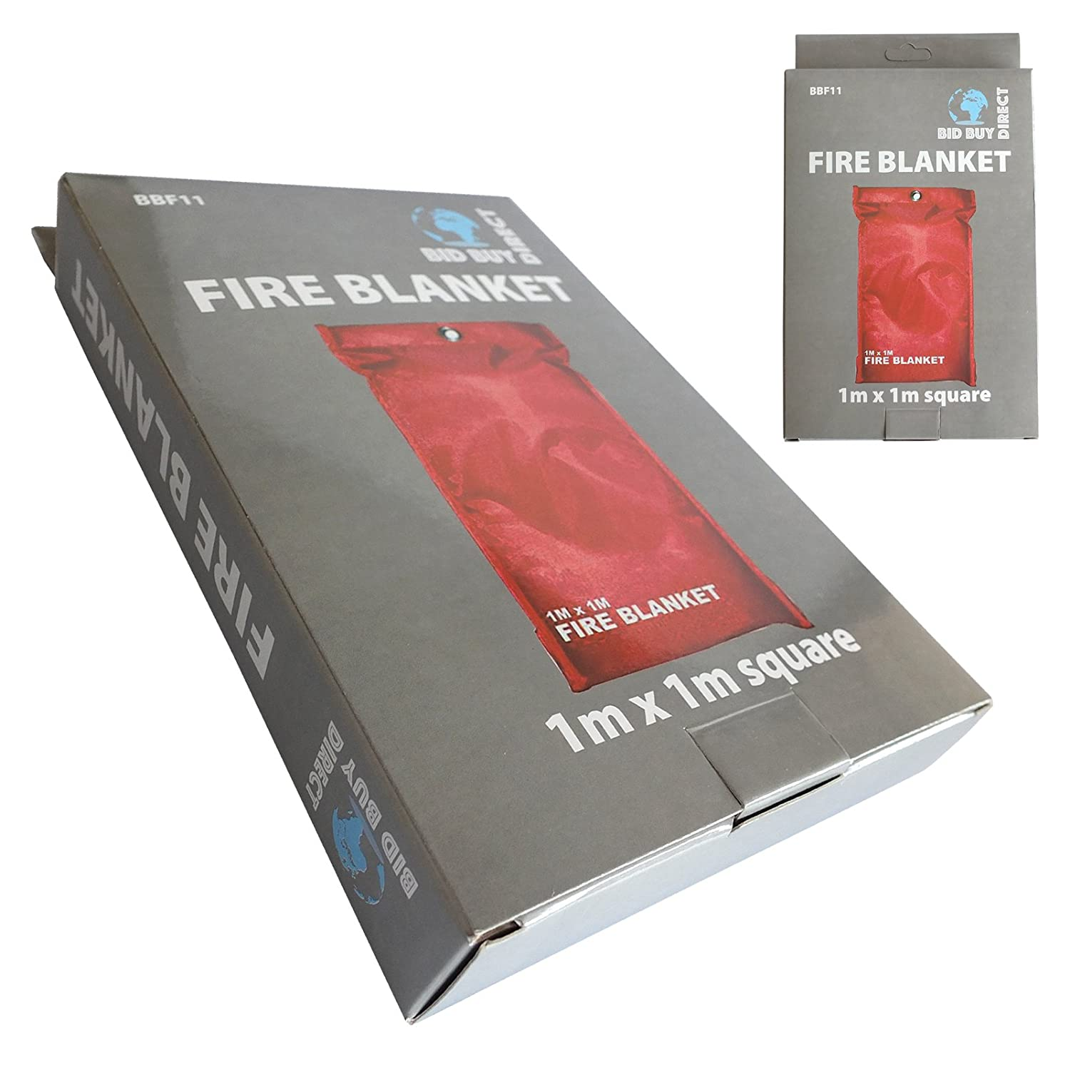1m x 1m Fibre Glass Fire Blanket - Wall Mountable & Quick Release Tabs Mavs Store