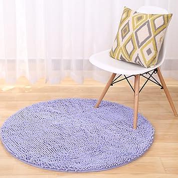 Amazon De Teppich Chenille Waschbar Micro Faser Teppich Rund Pad