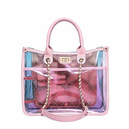 Amazon.it: borsa trasparente Rosa: Valigeria