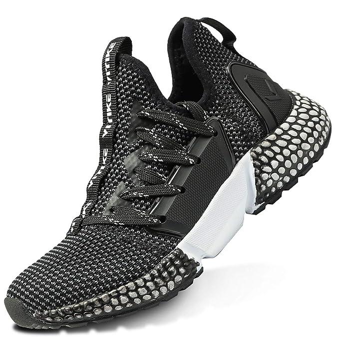 ASHION Kinder Turnschuhe Jungen Sneaker Mädchen Sportschuhe Kinderschuhe Laufschuhe für Unisex-Kinder (G-Schwarz,35 EU)