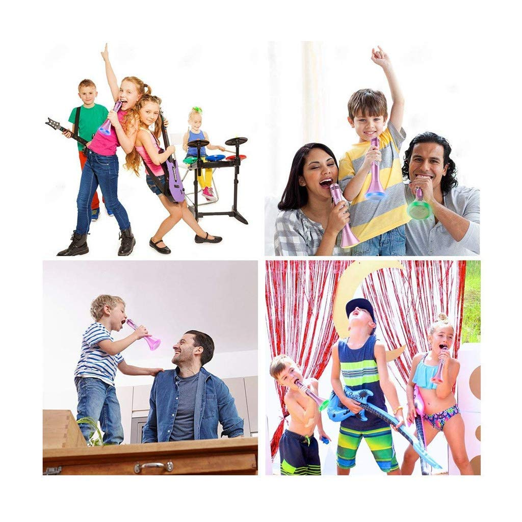 Wenini Wireless Microphone Karaoke for Kids, Handheld Portable Karaoke New Year Gift Home Party Birthday Speaker Player to Our Smart Device for iPhone/ iPad / Android Phone/ PC (Pink) by Wenini (Image #6)
