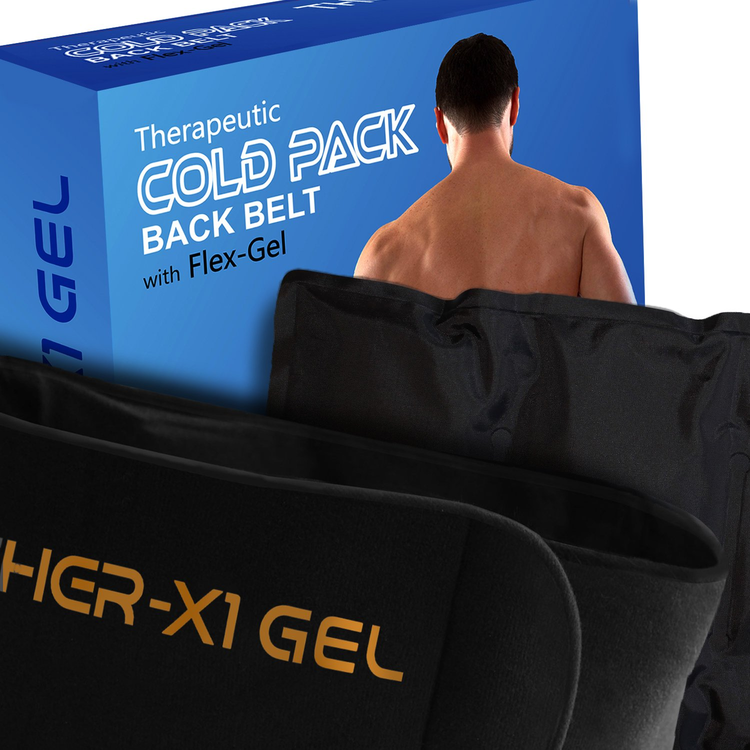 Back Pain Cold Reusable Ice Pack Belt Therapy For Lower Lumbar , Sciatic Nerve Pain Relief Degenerative Disc Disease Coccyx Tailbone Pain Reusable Gel Flexible Medical Grade by MedX (Image #4)