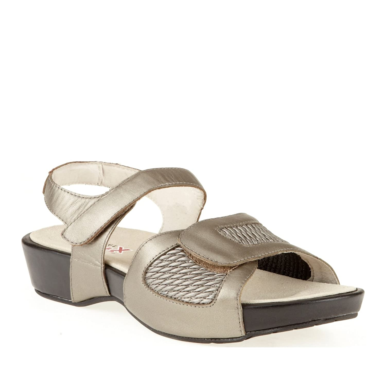 Propet Women's Khloe Sandal B009H507N4 8 AA|Pewter