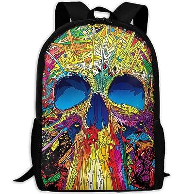 OutdoorDaypack Coloured Pattern Art SkullBoys Waterproof Multicolor