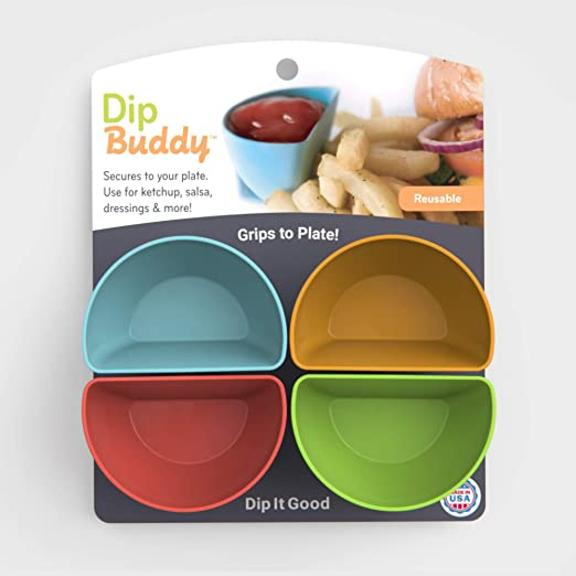 includes 4 individual dipping containers Dip Buddy by Mighty Good Solutions