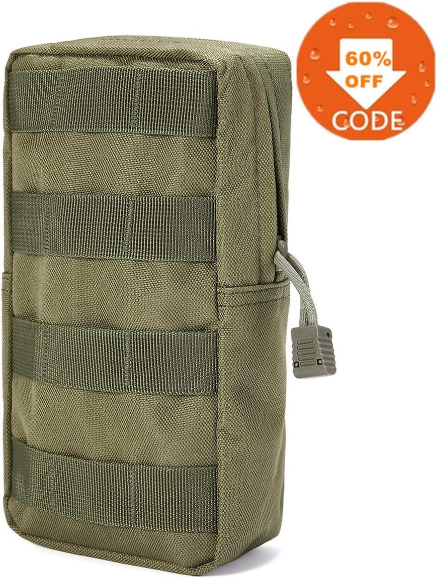 FUNTOK Senderismo Paquetes de Cintura Pouch Pockets Outdoor Sports Utility Gadget Gear Hanging Waist Bags /…