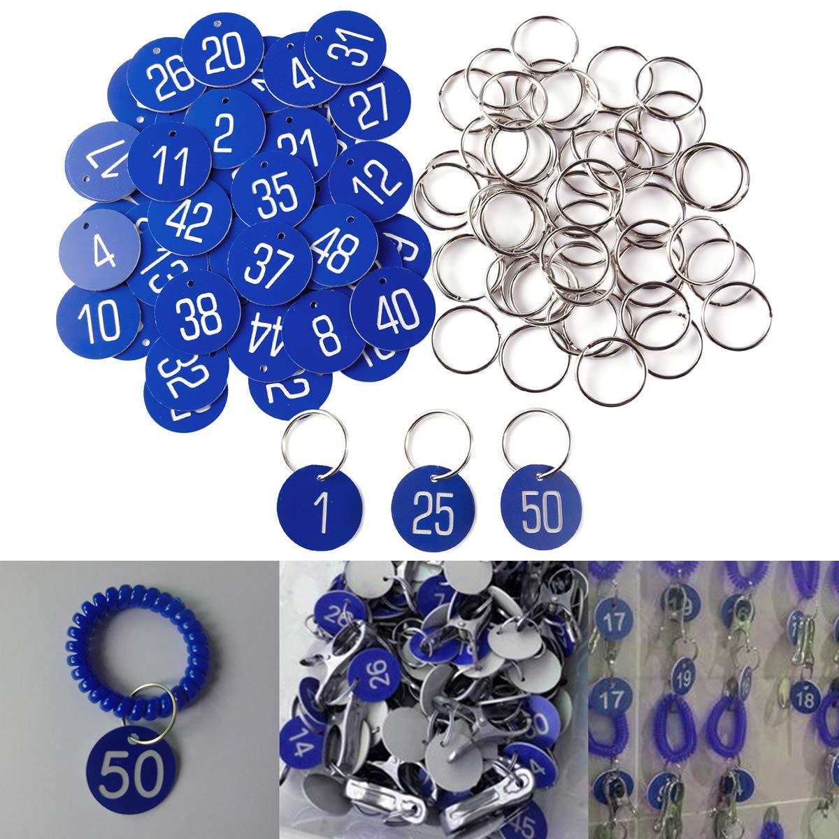 argento,1-50,con anelli SurePromise Targhe da tavolo con dischi numerati incisi 50 pezzi per catering per matrimoni,pub,ristoranti