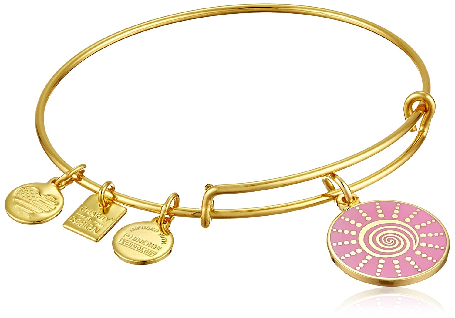 cz g slide bangles gold charm slideb bangle circles with products bracelet stretch