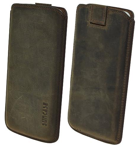 Suncase Original Echtleder Etui Tasche für das iPhone X   XS (5.8