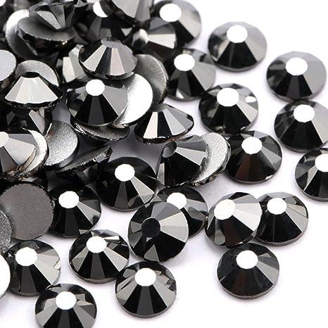 no glue 1440 stones Jet Black Swarovski crystals non hotfix SS10 10 gross