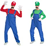 Super Mario Brothers Mario and Luigi set adult Costume Hat with false beard (japan import)