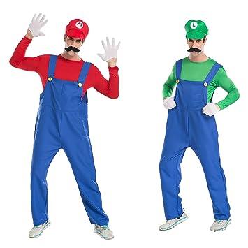 Super Mario Brothers Mario and Luigi set adult Costume Hat with false beard  (japan import 7235368ddf7