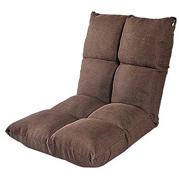 Best Choice Products Juego acolchado piso Gaming sofá silla plegable 5 grados ajustable (Color : Marrón): Amazon.es: Hogar