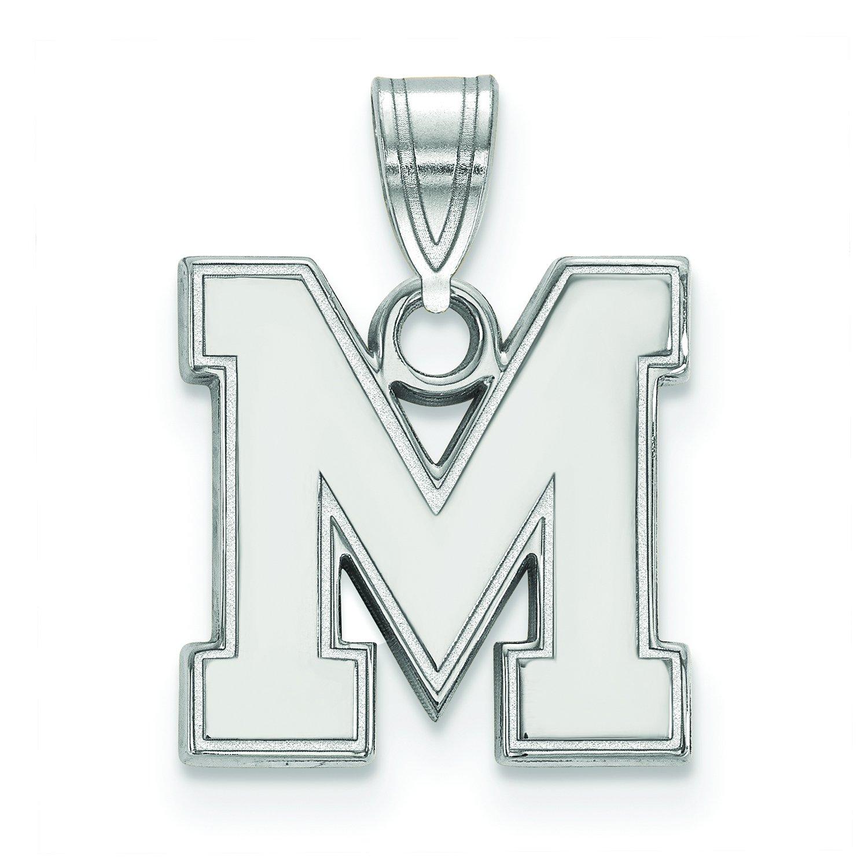 メンフィスSmall (1 / 2インチ) ペンダント(10 Kホワイトゴールド)   B01IYEXX4I