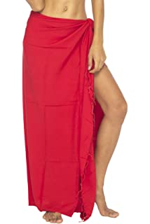 f48ad256dc Back From Bali Womens Sarong Swimsuit Cover Up Beaded Beach Wear Bikini  Wrap Skirt with Coconut