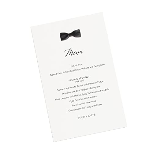 Amazon Com Black Bowtie Menu Cards Custom Printed Set Of 8