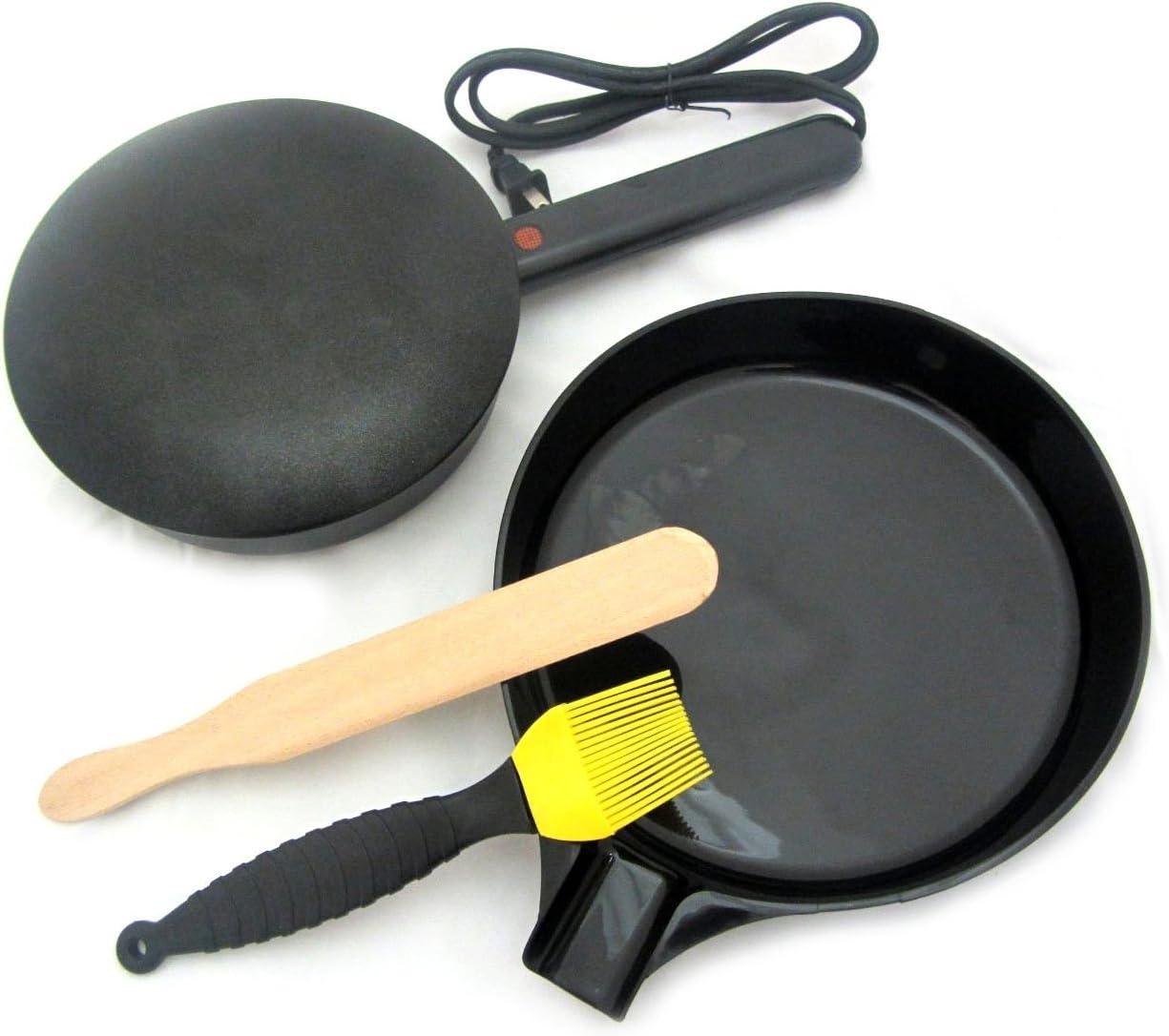Electric Crepe Maker with BONUS Silicone Basting Brush