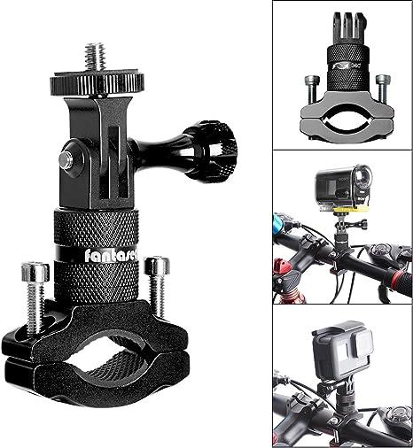 Soporte de cámara de acción para bicicleta, adaptador de manillar ...
