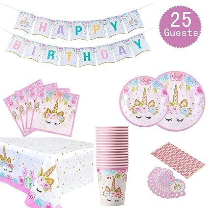 Amazon.com: Juego de accesorios para fiestas con temática de ...