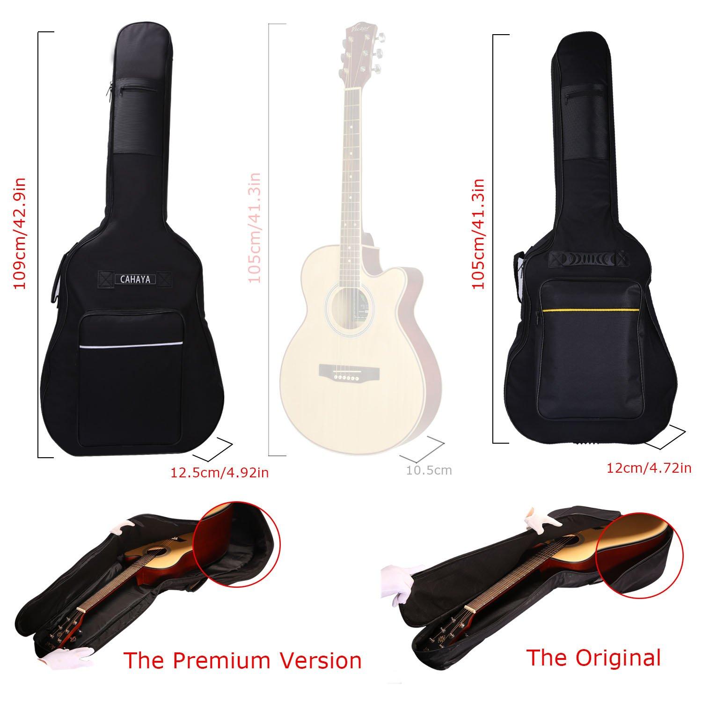 Marron CY0075-1 CAHAYA Housse pour Guitare 41 Pouces Sac de Guitare Etanche en Tissu Oxford avec 2 Bretelles Ajustables Pour Guitares Acoustiques et Classiques
