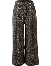 Valleygirl SAM Wide Leg Pants with Buttons