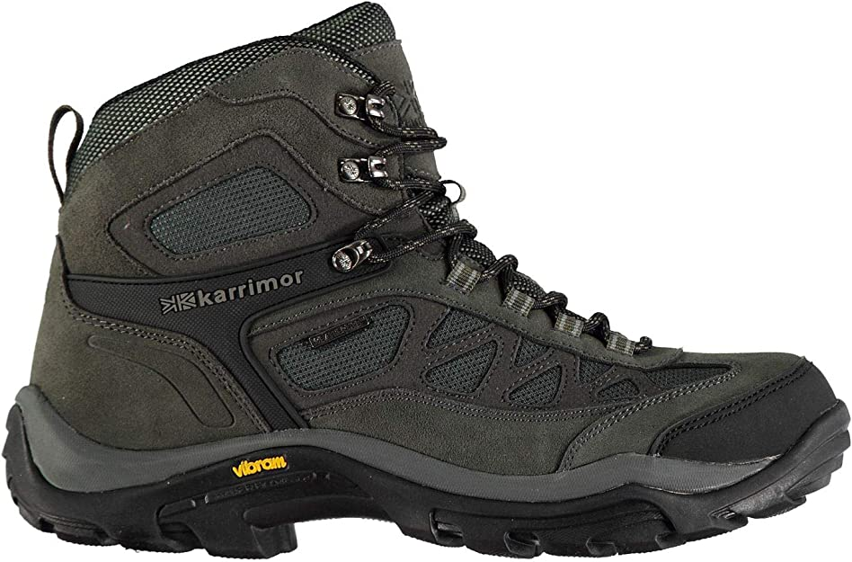 Karrimor Mens Aspen Mid Walking Boots Lace Up Waterproof Padded Ankle Collar