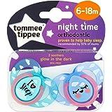 Tommee Tippee - 43336272 - Nuit - Sucettes - Lot de 2 - Coloris aléatoire