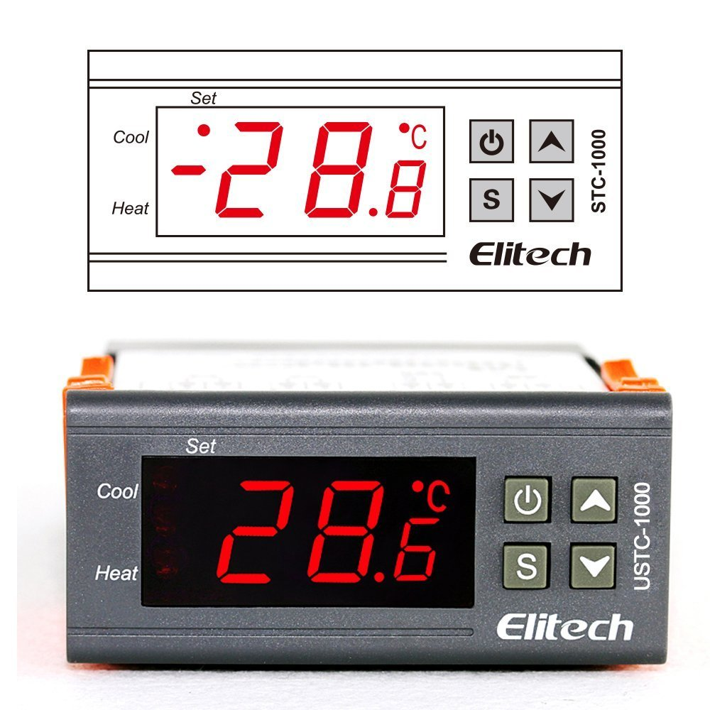 Elitech Stc 1000 Temperature Controller Origin Digital 110v Help Wiring An Stc1000 Homebrewing Centigrade Thermostat 2 Relays Industrial Scientific