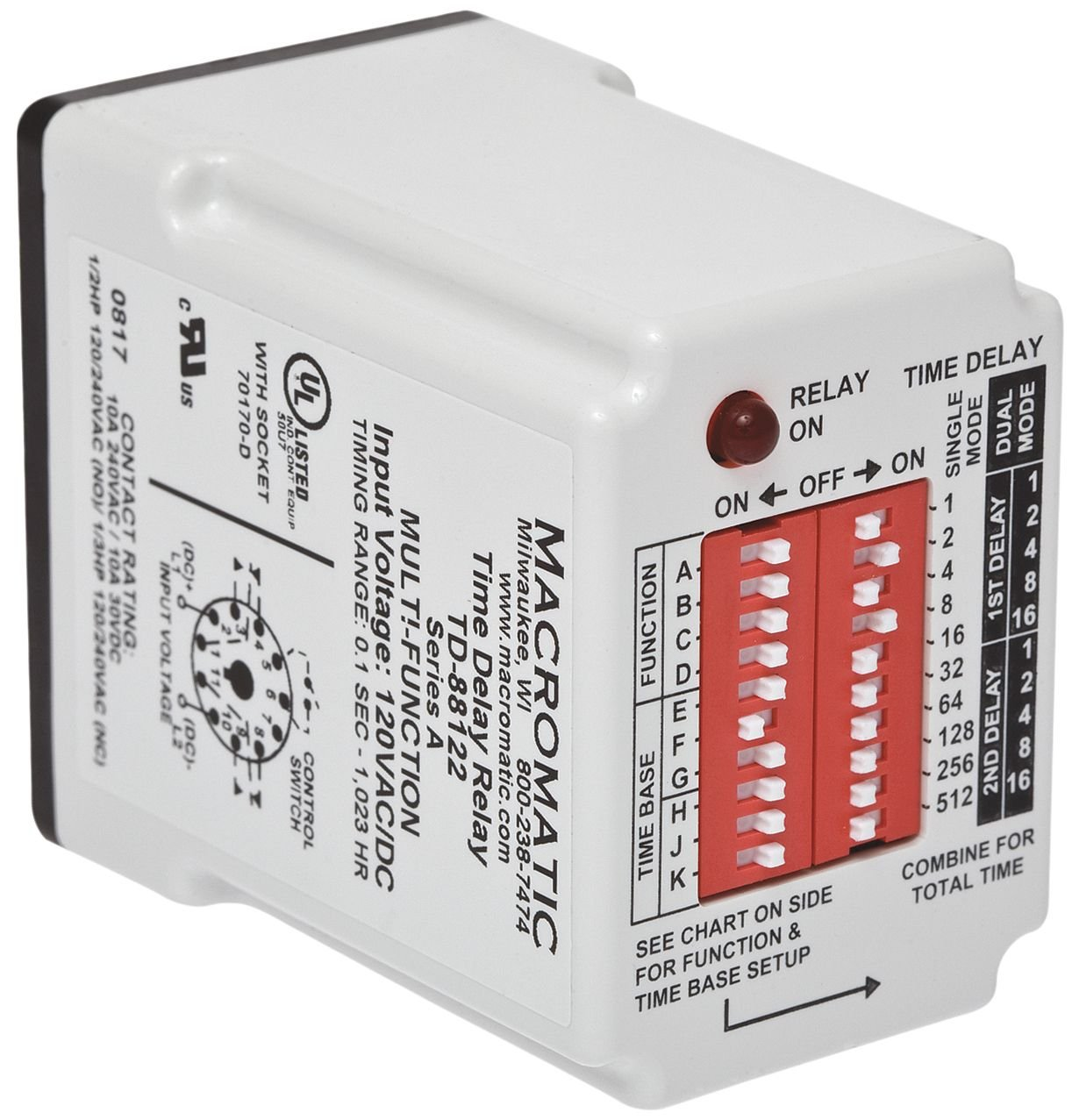 Time Delay Relay 120vac Dc 10a Spdt Home Improvement Imo Wiring Diagram
