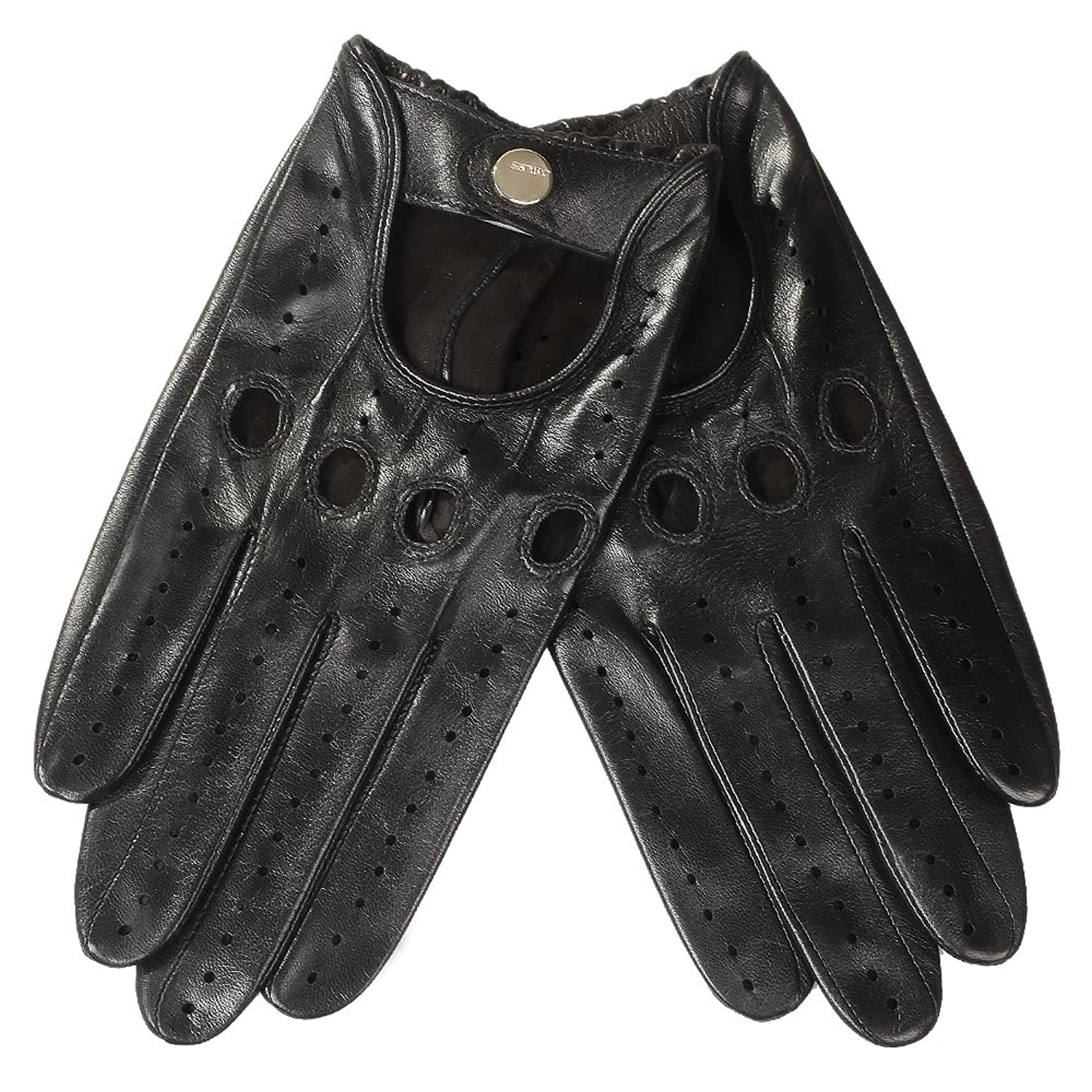Leather driving gloves dents - Elma Women S Traditional Italian Nappa Leather Gloves Unlined Motorcycle Driving Open Back